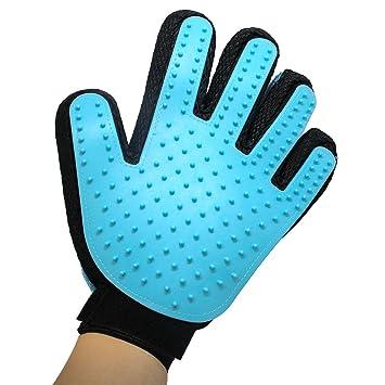 2-en-1 guante de peluquería de mascotas: Deshedding cepillo + muebles Pet Mitt removedor de ...