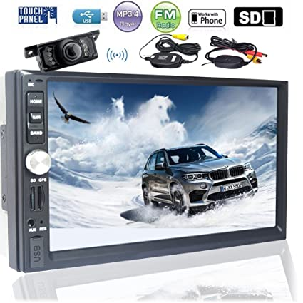 Amazon com: EinCar Car Audio Double Din 2DIN 7 Touchscreen