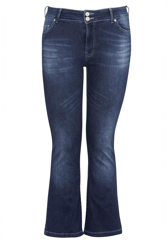 Ellos Women's Plus Size Back Elastic Bootcut Jeans