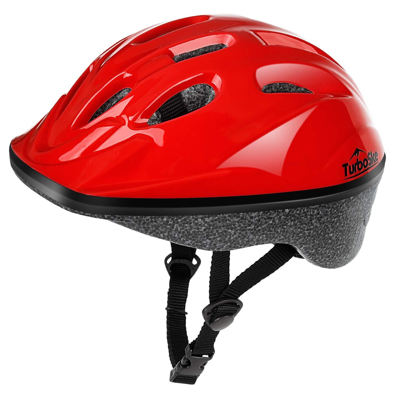 TurboSke Toddler Helmet, Youth Skateboard Helmet (Bright Red)
