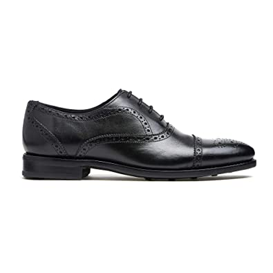various kinds of huge range of famous designer brand Timberlux New York Black Cap-Toe Brogue Shoes, Men Dress Shoes Goodyear  Welted
