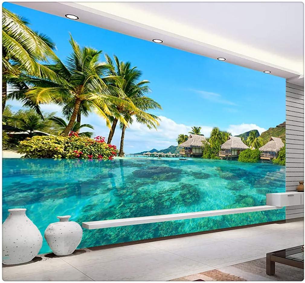 3d Photo Wallpaper Hd Maldives Sea Beach Natural Landscape Photography Living Room Tv Background Wall Painting Wall Mural 250cmx175cm Amazon Com