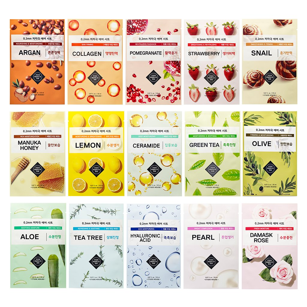 Etude House 02mm Air Mask 20ml Combo Pack 15 02 Therapy 3 Pcs Beauty