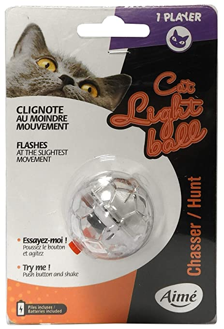 Aime Juguete Pelota Luminosa para Gato: Amazon.es: Productos para ...