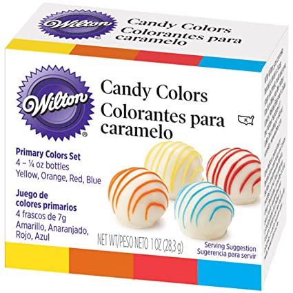 Amazon.com: Wilton Candy Decorating Primary Colors Set, 1 oz ...