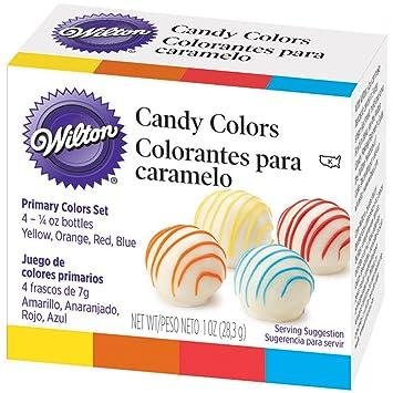 Amazon.com: Wilton Candy Decorating Primary Colors Set, 1 oz ...