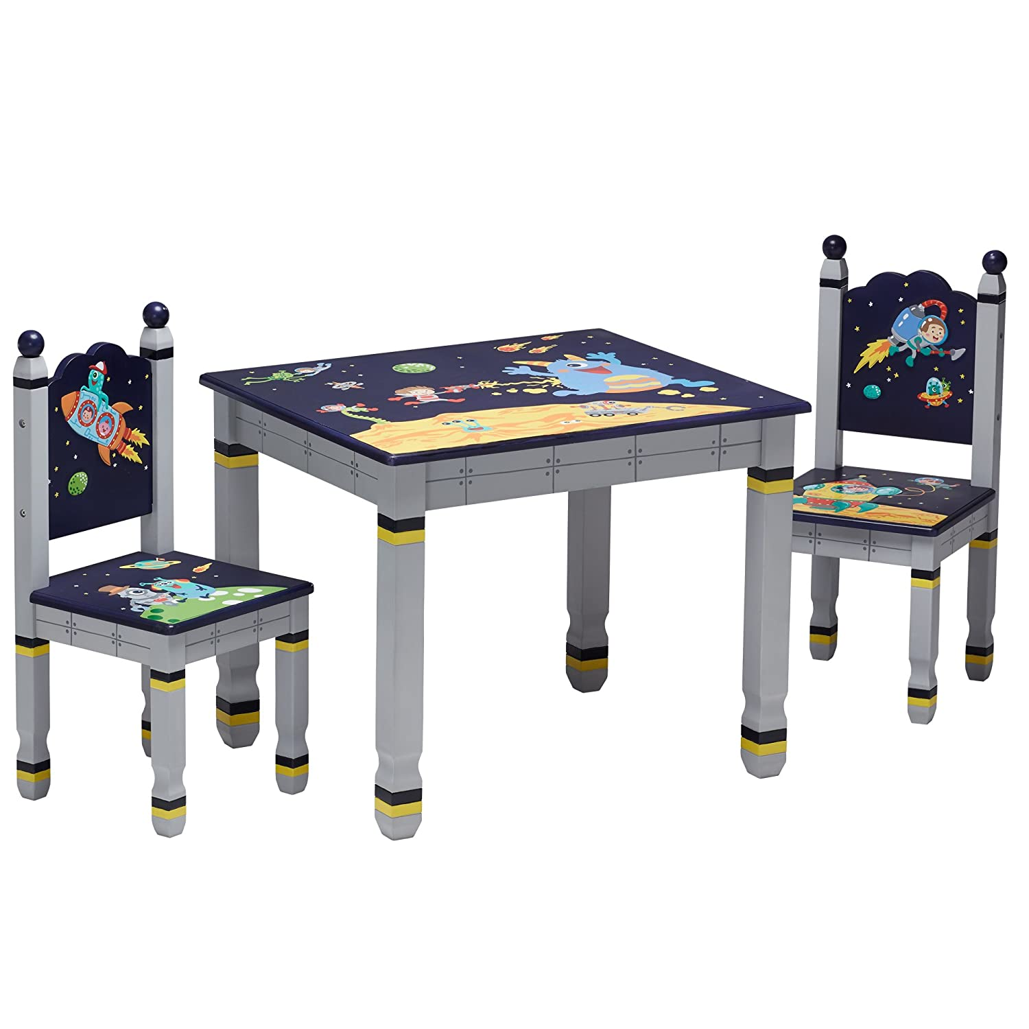 Fantasy Fields Bouquet Thematic Hand Crafted Kids Wooden Table and 2 Chairs Set |Imagination Inspiring Hand Crafted & Hand Painted Details Non-Toxic, Lead Free Water-based Paint TD-0046A