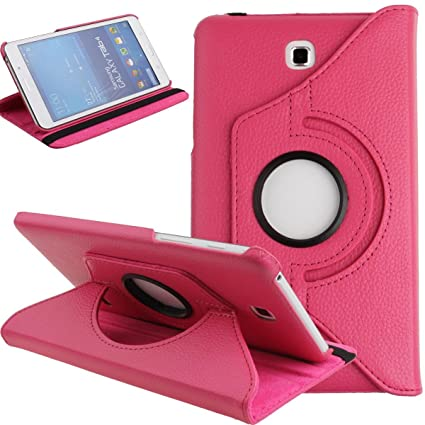 size 40 69d18 49c12 Galaxy Tab 4 7.0 Case,Flip Case for Galaxy Tab 4 7-inch Tablet,Folio Nook  PU Leather 360 Degree Swivel Stand Case Cover for Samsung Galaxy Tab 4 ...