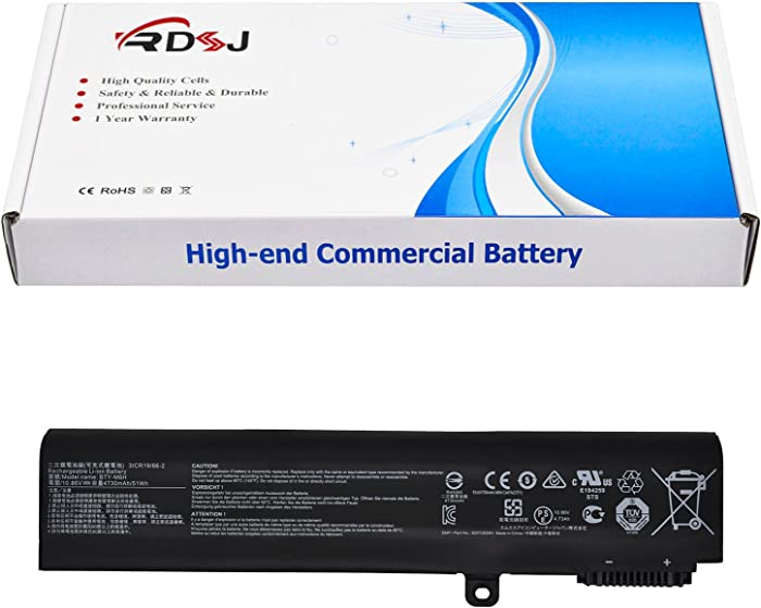 BTY-M6H Laptop Battery for MSI GE72 2QC 2QD GL72 GL62-6QD-030FR GL62-6QC MS-16J2 GE62 GP72 CX62 6QD PE60 PE70 Series 10.86V 4730mAh/51Wh