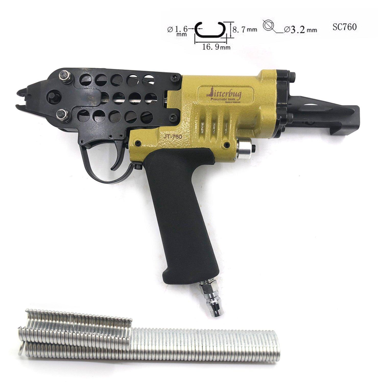 Pneumatic Air Tools C-Ring NAILER Hog Ring Plier Tool 16GA 1/2'' SC760 Air Nail Gun C Nailer 1/8'' to 7/32'' Closure Tool