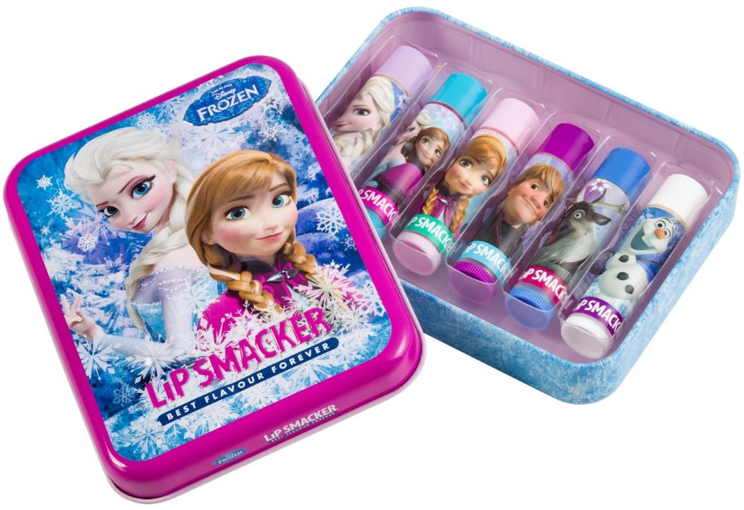 Disney Frozen Lip Balm Pack of 6 Elsa Anna Olaf Lip Smackers Set 5548