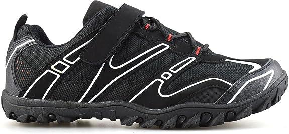 Crivit Sports - Zapatillas de Ciclismo de Piel sintética para Hombre, Color Negro, Talla 45 EU: Amazon.es: Zapatos y complementos