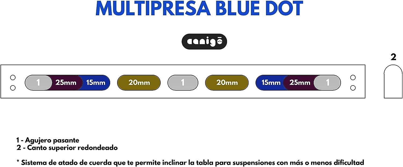 Canigó Multipresa de Escalada Blue Dot, Tabla Entrenamiento Exterior para Todos los Niveles, Calentamiento