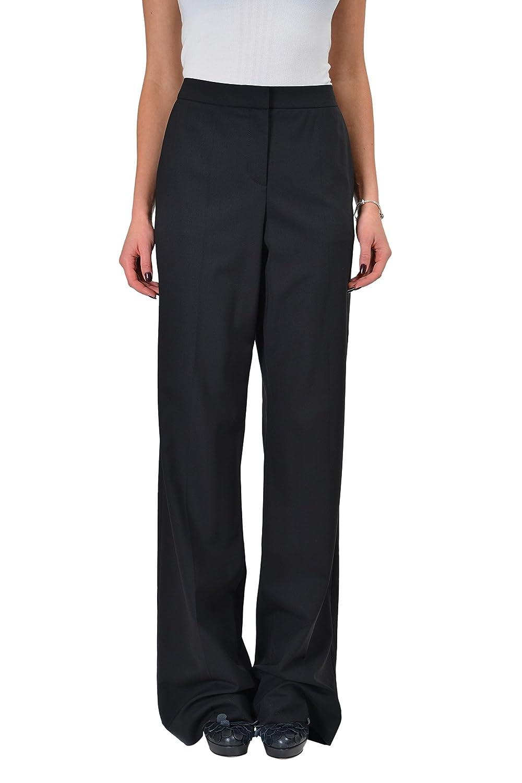 "Hugo Boss ""Tirona"" Wool Black Flat Front Women's Casual Pants US 4 IT 40"
