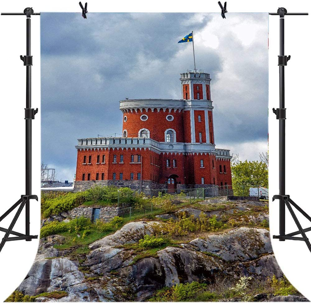 5X7FT Ancient Castle Building Background LELEZ Polyester Vinyl Photo Backdrop for Photography YouTube TV Video Shooting Props SPGE399