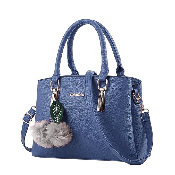 3de4321bec Bequemer Laden Borse Moda per Donna Borse in Pelle PU Borsa a Mano Donna  con Grande Capacità-Blu: Amazon.it: Abbigliamento
