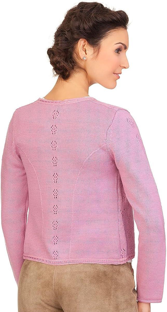 Spieth /& Wensky Damen Trachten Strickjacke rosa Enrica nuss