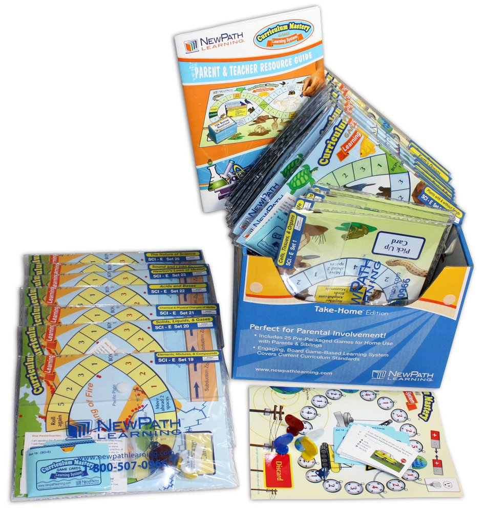 NewPath Learning Science Curriculum Mastery Game, Grade 5, Take-Home Pack