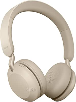 Jabra Elite 45h, Gold Beige – On-Ear Wireless Headphones with Up to 50 Hours of Battery Life, Superior Sound with Advanced 40mm Speakers – Compact, Foldable & Lightweight Design