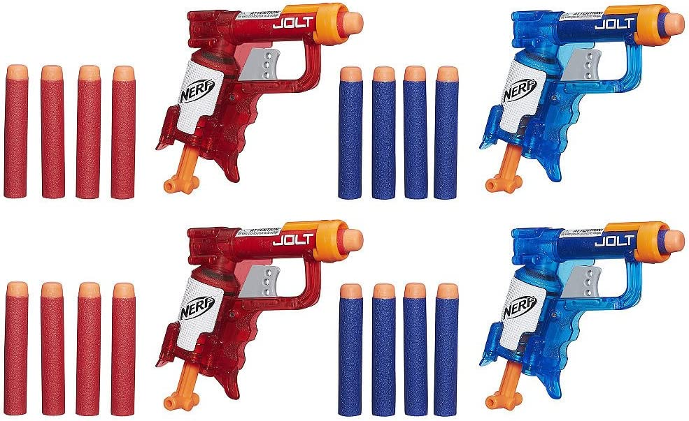 NERF N-Strike Elite Sonic Fire and Ice Jolt Team Pack of Four Blasters: Amazon.es: Juguetes y juegos