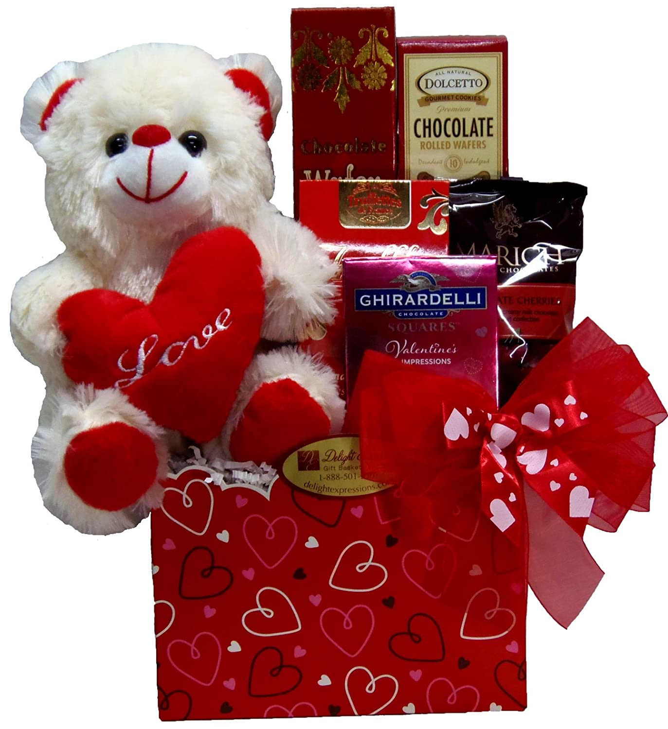 amazoncom delight expressions be mine valentines day gift box small a gift basket idea gourmet gift items grocery gourmet food