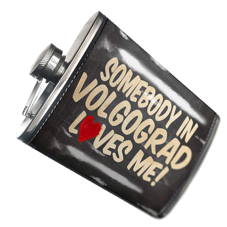 の8オンスのフラスコステッチ誰かVolgograd Loves me、ロシアステンレススチール – Neonblond   B00QQVGO5W