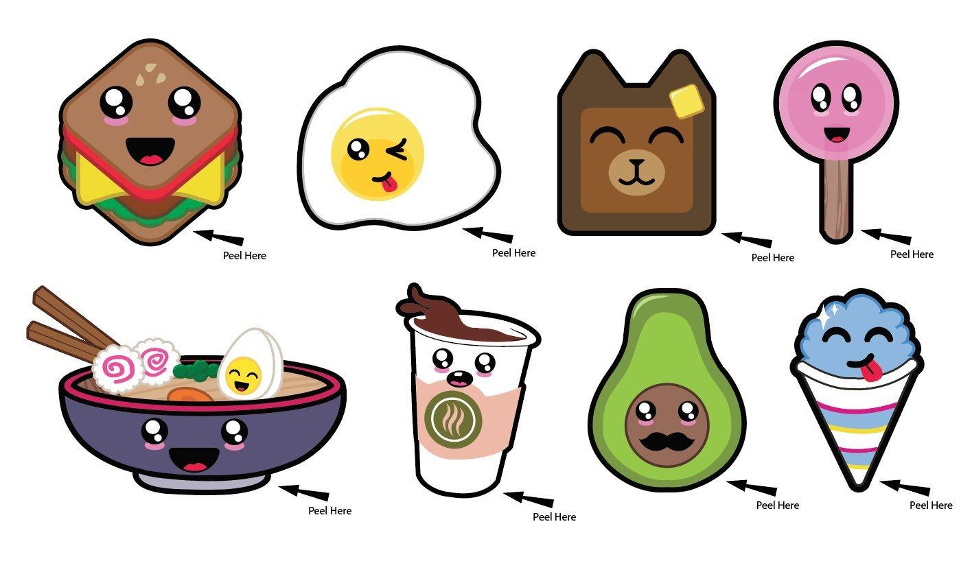 Amazon com chibi fun food stickers toys games