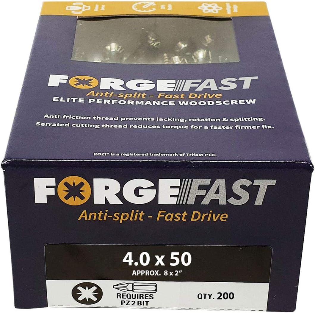 Forgefix Forffp1000y Forgefast Pozi Compatible Elite Performance Vis /à bois Organiseur/ /Argent FORFFP5100YT argent