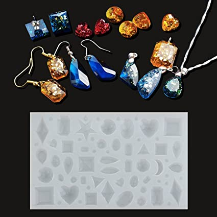 Beads & Jewelry Making 4 Pieces Assorted Shape Cabochon Silicone Earring Necklace Pendant Molds For Epoxy Resin Jewelry Making Diy Crafts Projects Jewelry Tools & Equipments