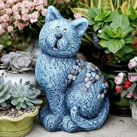 Adorno de jardín Escultura americana del gato del jardín decoración al aire libre Villa Patio creativo