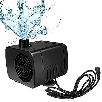 SunTop Mini Bomba de Agua Ultra Silencioso 300L/H Bomba Sumergible 5W Bomba de Circulación para Pecera Acuario Jardín, Estanque, Fuente: Amazon.es: Jardín