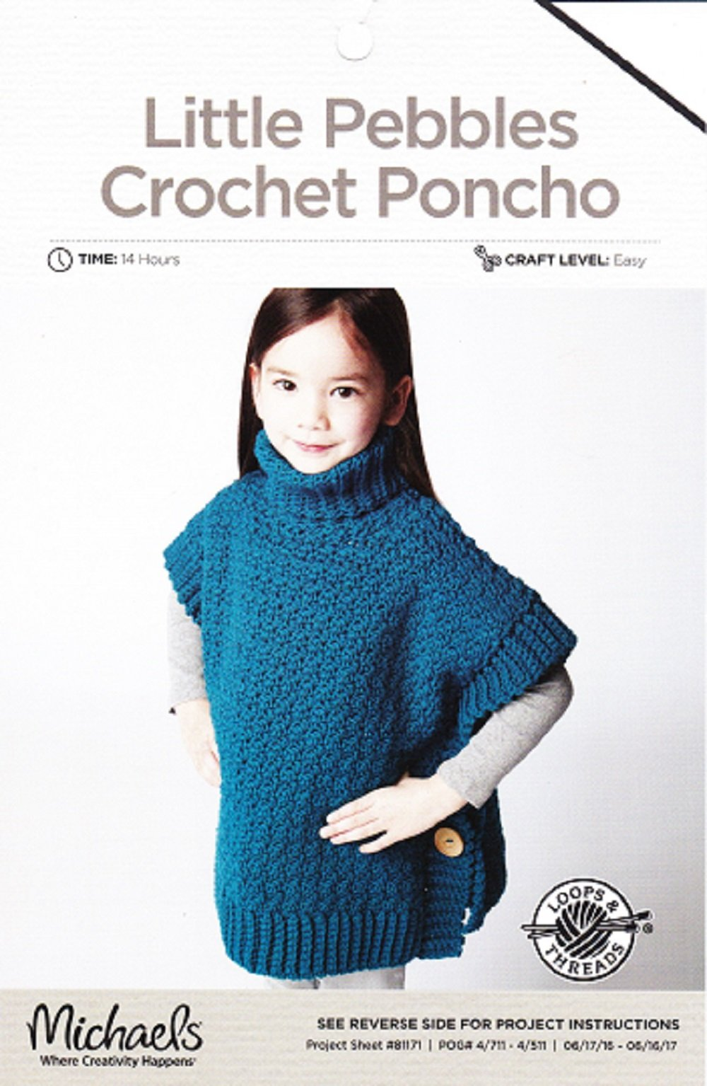Loops threads crochet pattern childs little pebbles crochet loops threads crochet pattern childs little pebbles crochet poncho to fit 2 6 years chest 56 66cm 22 26 amazon loops threadsmichaels books bankloansurffo Images