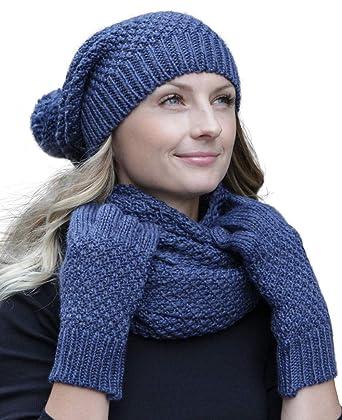 grande qualité matériaux de haute qualité magasiner pour le luxe HILLTOP - Ensemble hiver combo - écharpe d'hiver, bonnet/bonnet en tricot  assorti et gants en option ou chauffe-mains