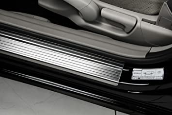 PKWelt 4 Molduras umbrales de puerta Protectores de umbral de coche de acero inoxidable y carbon: Amazon.es: Coche y moto