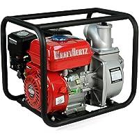 "KRAFTHERTZ® 3"" Zoll Power Benzin Wasserpumpe Motor Schmutzwasserpumpe Schlamm Pumpe Teichpumpe Gartenpumpe"