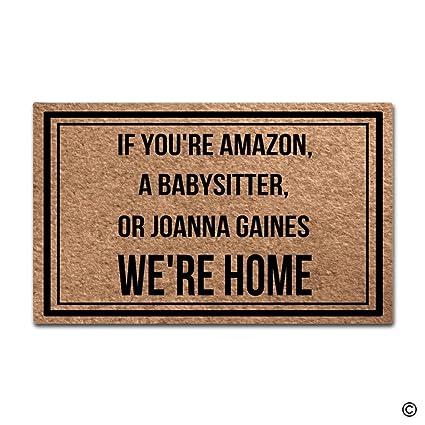 MsMr Funny Door Mat If You\u0027re Amazon A Babysitter Or Joanna Gaines  sc 1 st  Amazon.com & Amazon.com : MsMr Funny Door Mat If You\u0027re Amazon A Babysitter Or ...