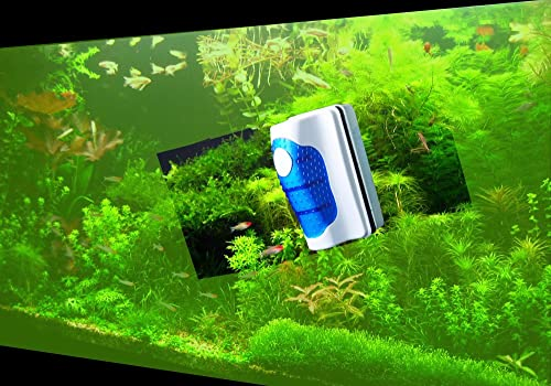 Floating algae magnetic cleaner for glass tank