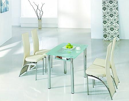 Diseñador italiano Rimini tamaño grande mesa de comedor – cristal ...