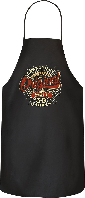 Rahmenlos Tablier de cuisine pour 50e anniversaire 100 /% coton Alte Wilde 1970.
