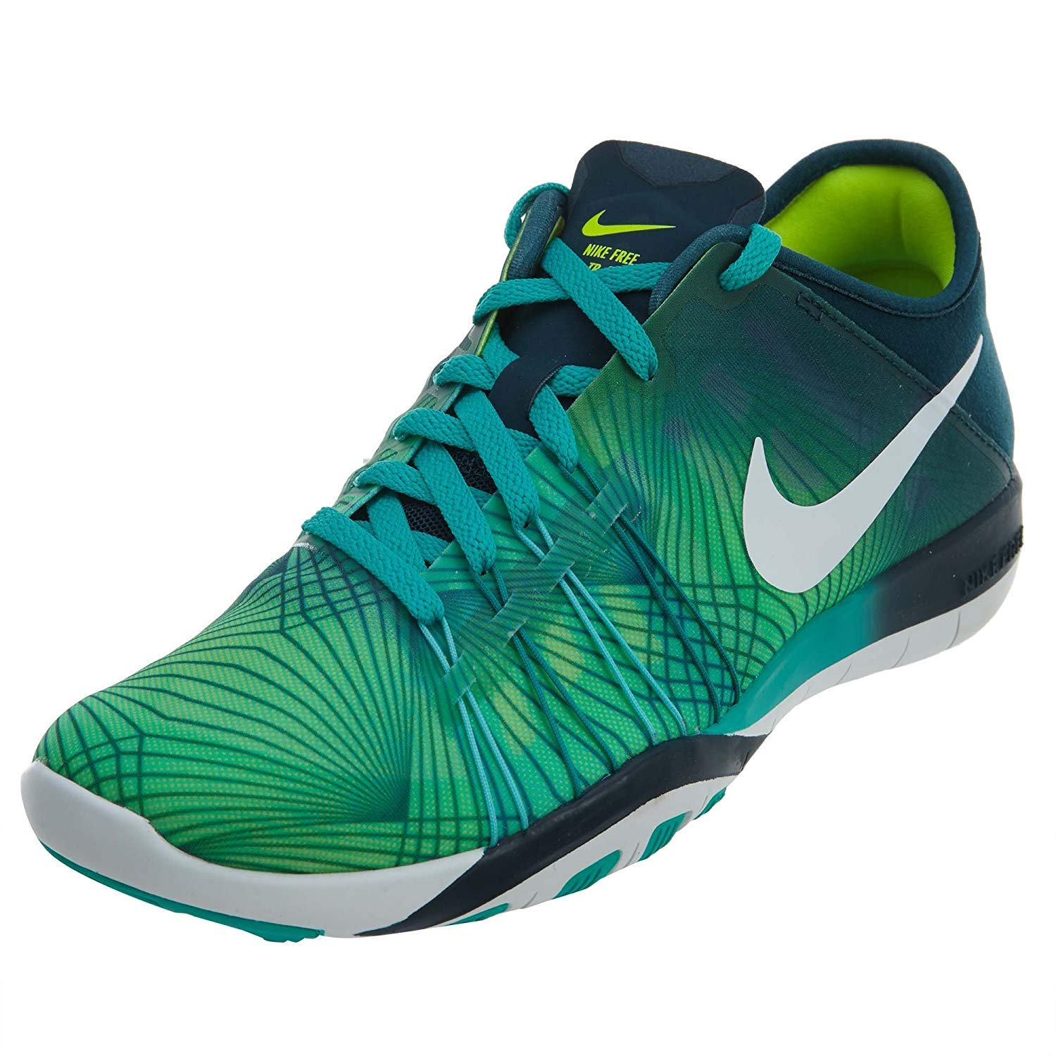 brand new 6c7f9 58be0 Amazon.com   NIKE WOMEN Free TR 6 Print Clear Jade White Mid Turquoise Volt  833424-300 size 6   Running
