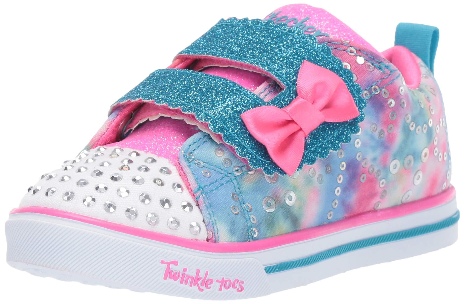 Skechers Kids Girls' Sparkle LITE-Rainbow Cuties Sneaker, Multi, 10 Medium US Toddler by Skechers