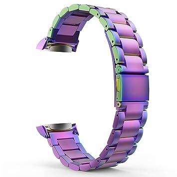 MoKo Samsung Gear Fit 2 y Fit 2 pro Correa de Reloj, Pulsera Universal Acero