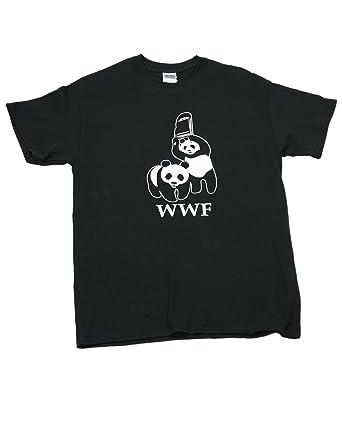 7f5705512e297d Rowfers WWF Panda Wrestling - Men s Black T-shirt. (Small 34