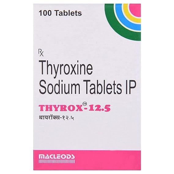 Thyrox 12 5 Bottle Of 100 Tablets Amazon In