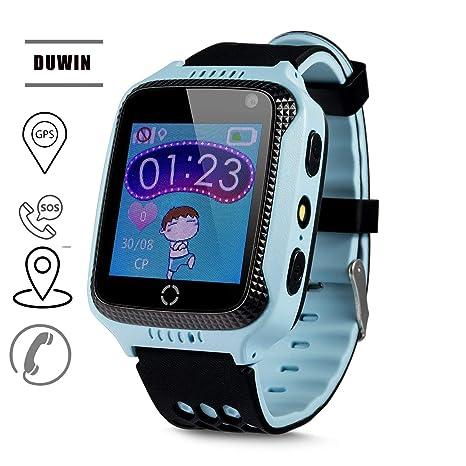 DUWIN Niños Smart Watch Phone, GPS Tracker Smartwatch para niños ...