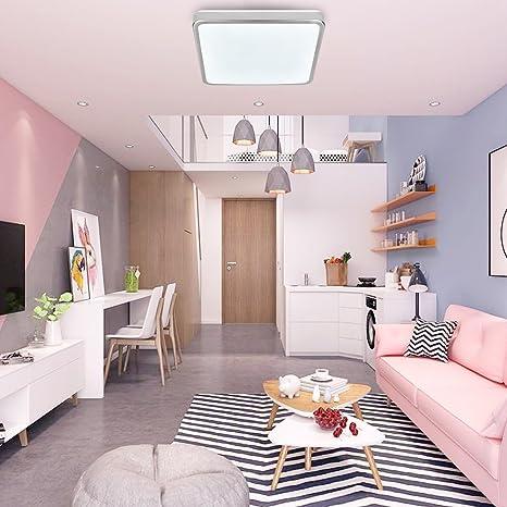 Hengda® 12W lámpara de techo led blanco frío metal cepillado lámpara de techo modernas lámpara de techo para salón
