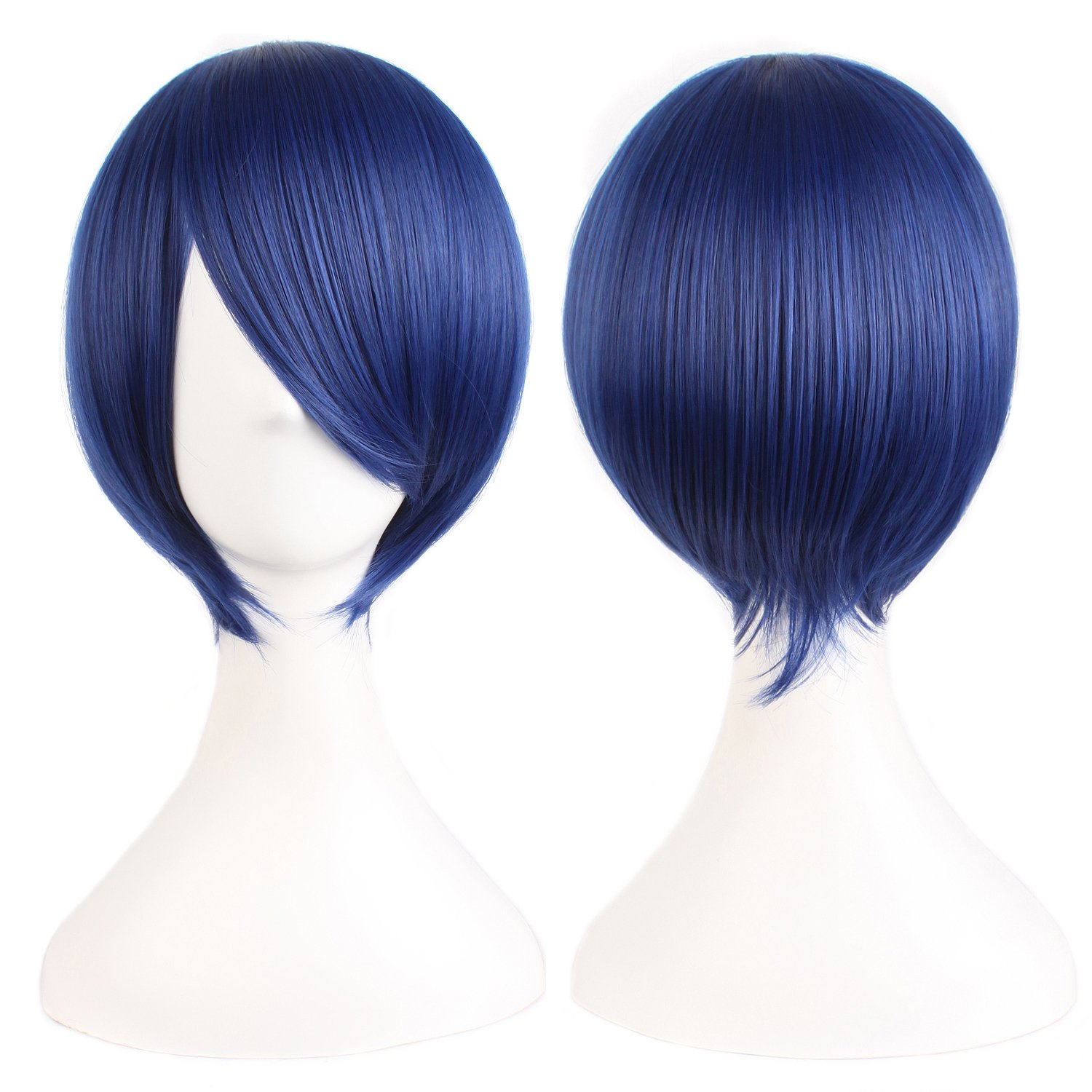 MapofBeauty 12''/30cm Short Straight Cosplay Costume Wig Party Wig (Mixed Blue) by MapofBeauty (Image #2)