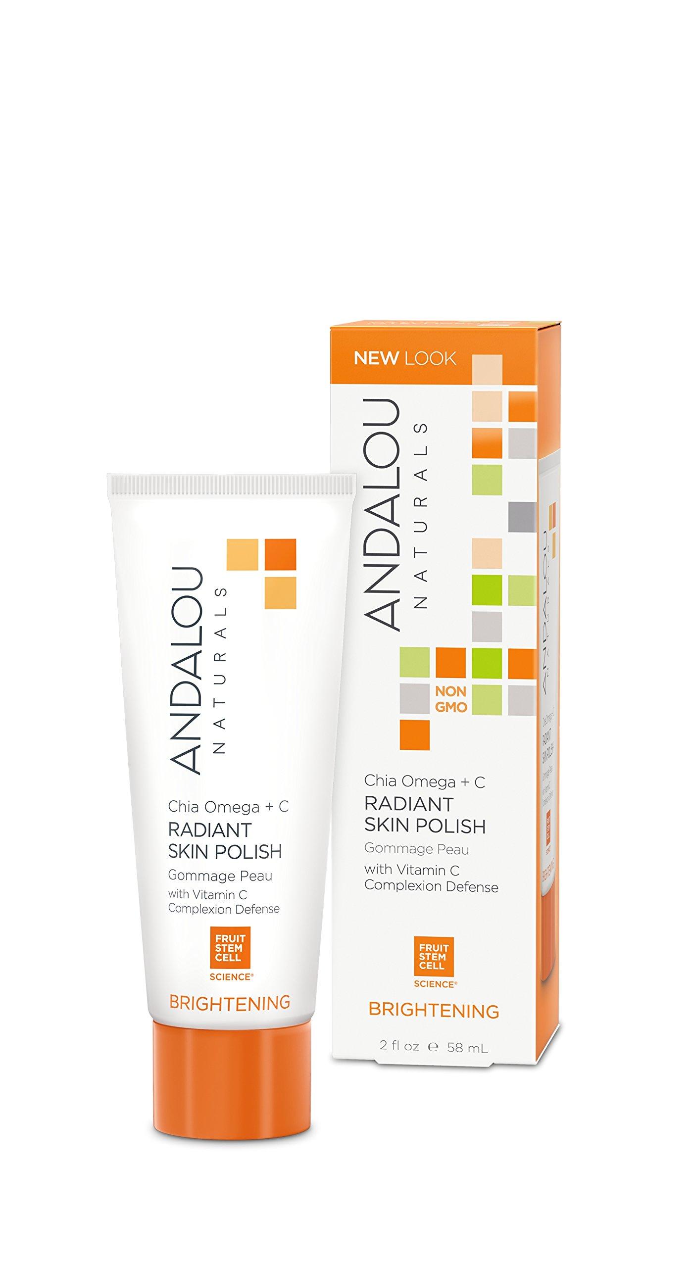 Andalou Naturals Chia Omega + C Radiant Skin Polish, 2 Ounce Tube by Andalou Naturals