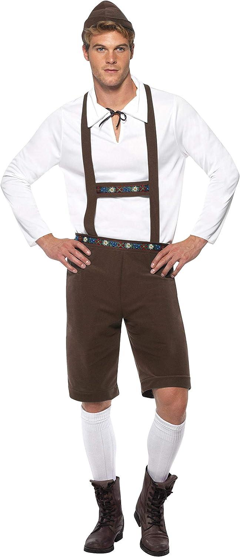 Smiffys Disfraz de hombre bávaro, Marrón, con lederhosen, tirantes, parte de arriba y so: Smiffys: Amazon.es: Juguetes y juegos