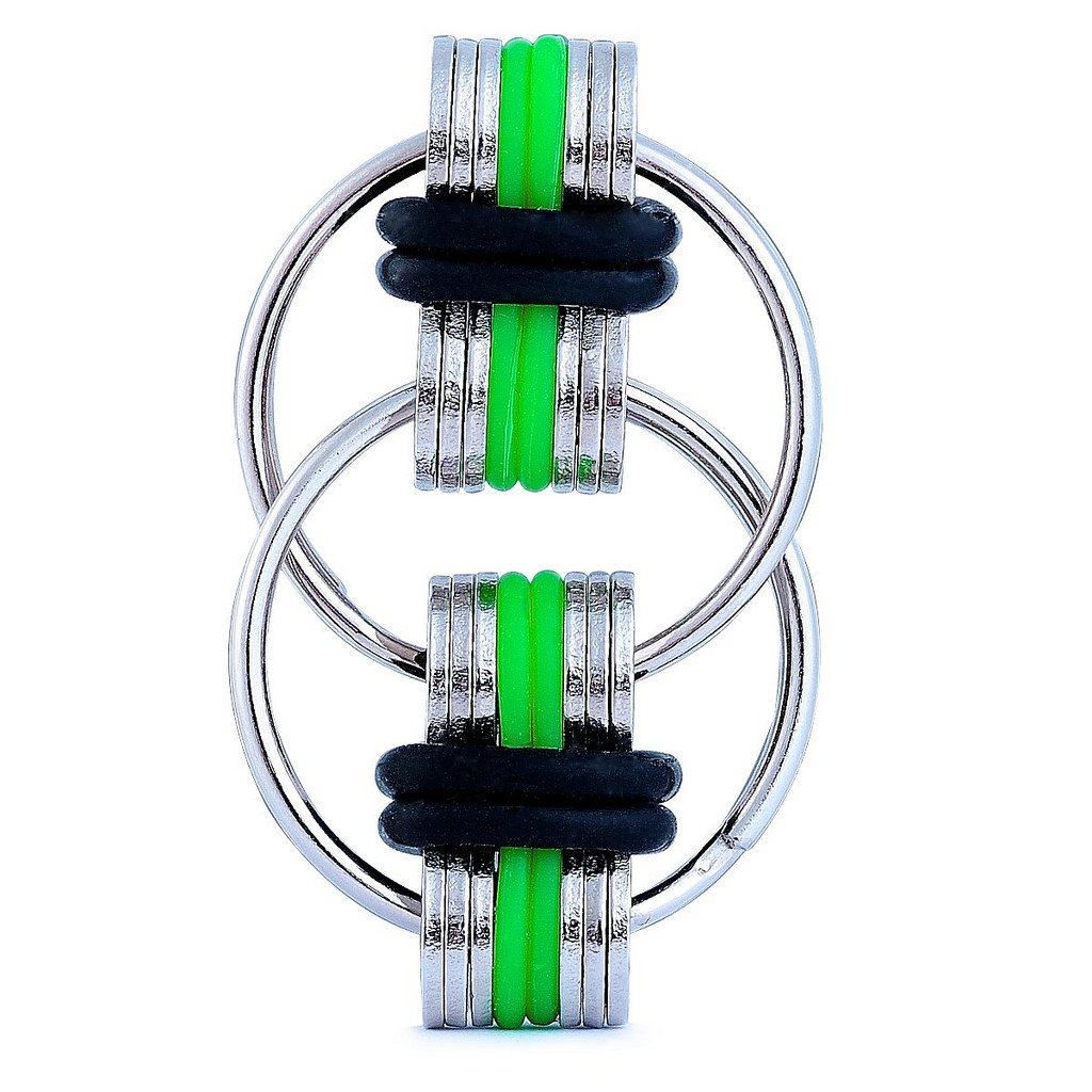 and Autism Boredom Your Finger Tips Blue ADHD ADD Fancy Home 2 Pack Anti-Anxiety Fidget Chain Gadgets Toy Stress Reducer for Autism